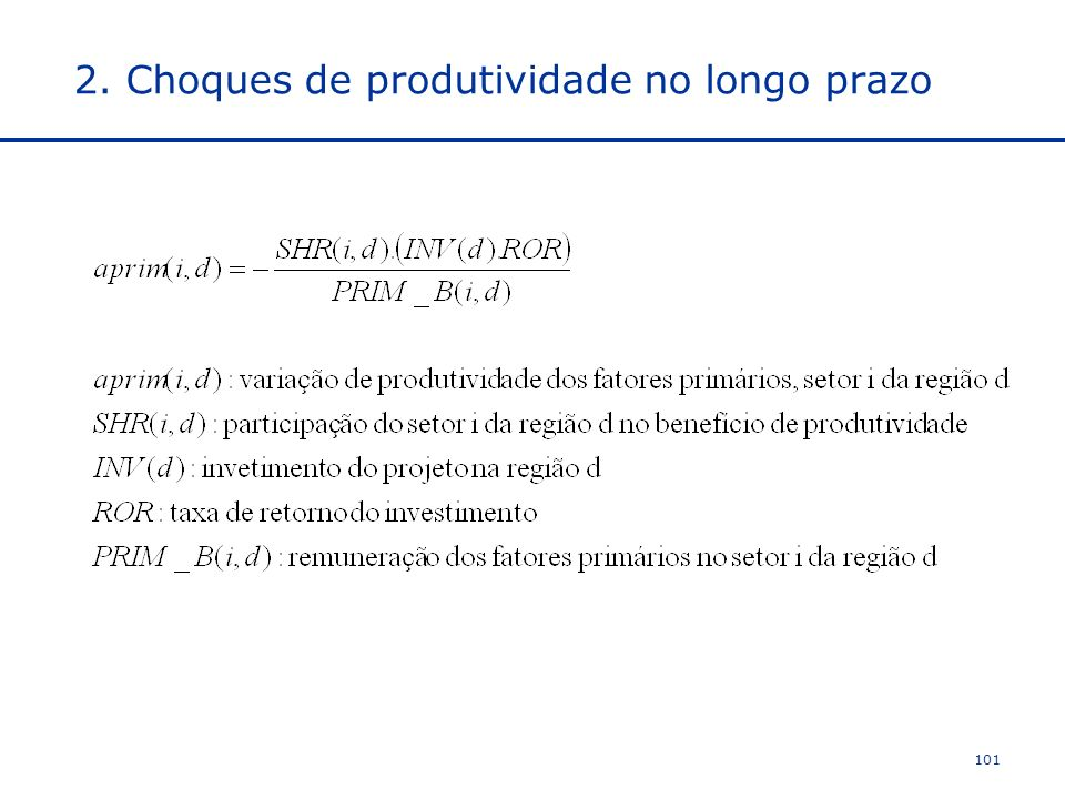 2. Choques de produtividade no longo prazo 101