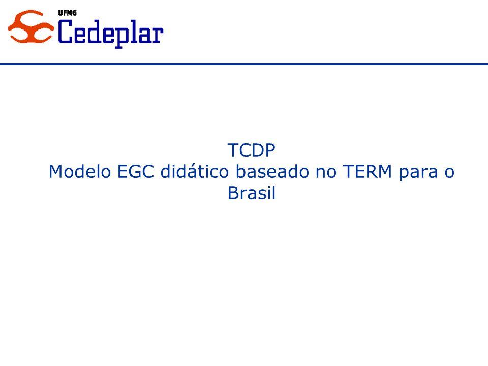 TCDP Modelo EGC didático baseado no TERM para o Brasil