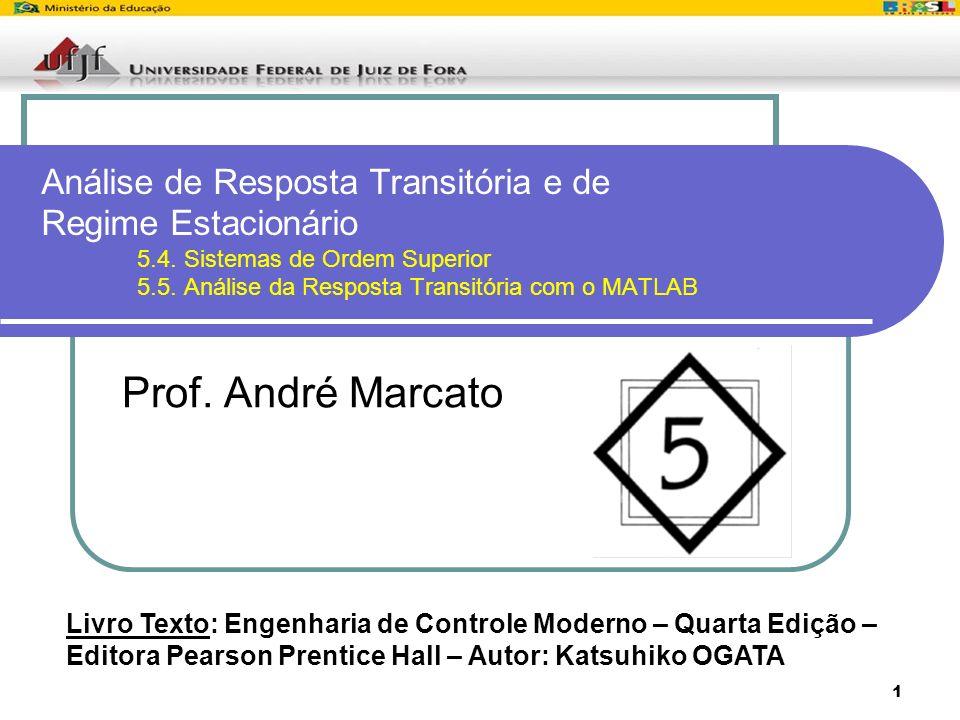 1 Análise de Resposta Transitória e de Regime Estacionário 5.4. Sistemas de Ordem Superior 5.5. Análise da Resposta Transitória com o MATLAB Prof. And