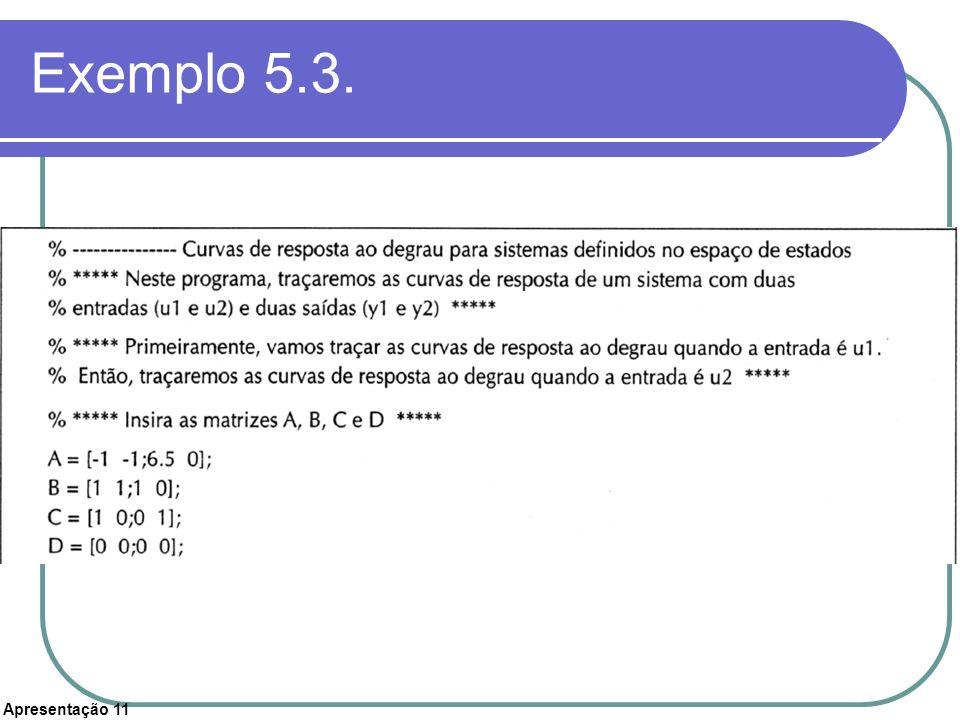Apresentação 11 Exemplo 5.3.