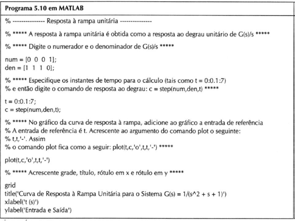 Apresentação 11 Resposta à Rampa (exemplo)