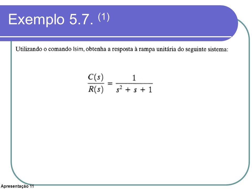 Apresentação 11 Exemplo 5.7. (1)