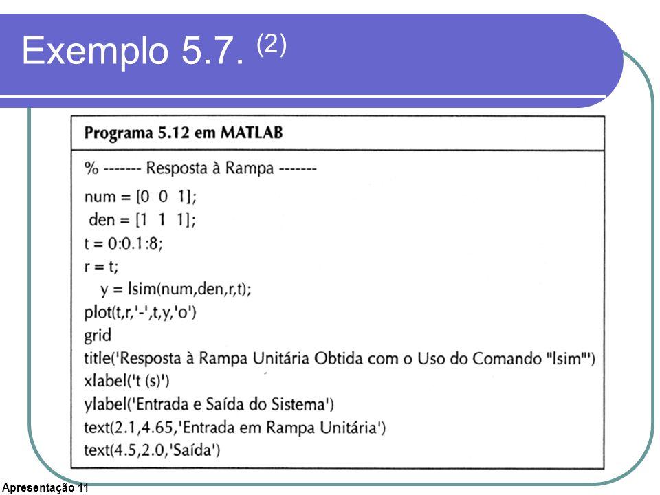 Apresentação 11 Exemplo 5.7. (2)