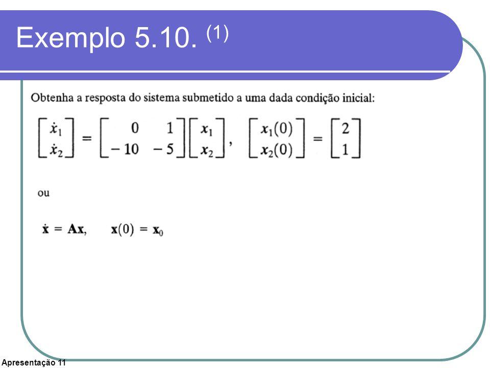Apresentação 11 Exemplo 5.10. (1)
