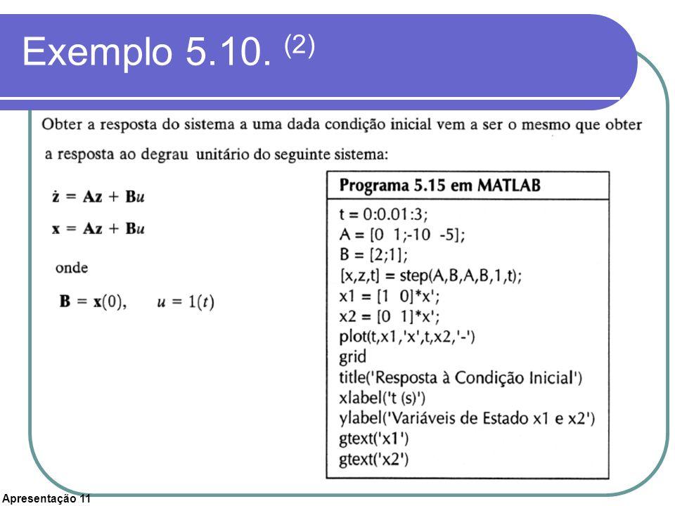 Apresentação 11 Exemplo 5.10. (2)