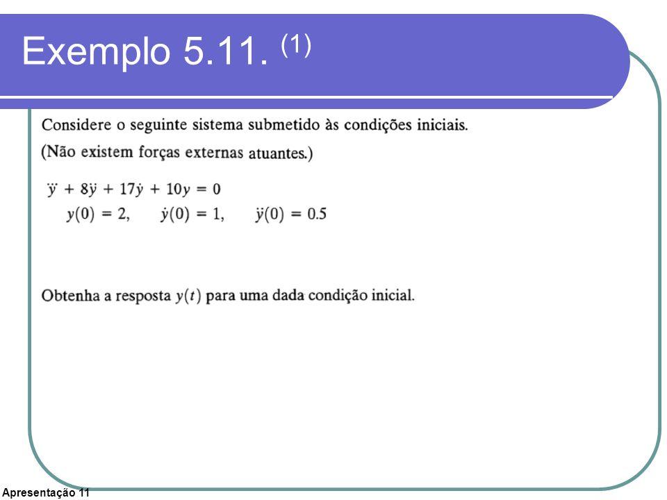 Apresentação 11 Exemplo 5.11. (1)