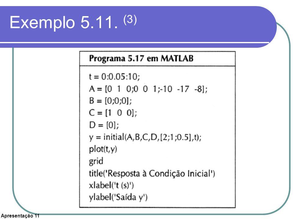 Apresentação 11 Exemplo 5.11. (3)