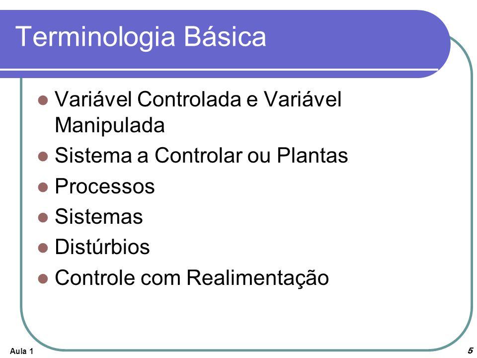 Aula 16 Exemplos de Sistemas de Controle Sistema de Controle de Velocidade