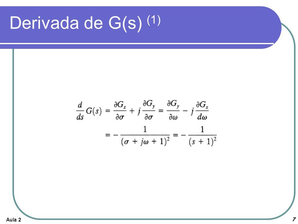 Aula 27 Derivada de G(s) (1)