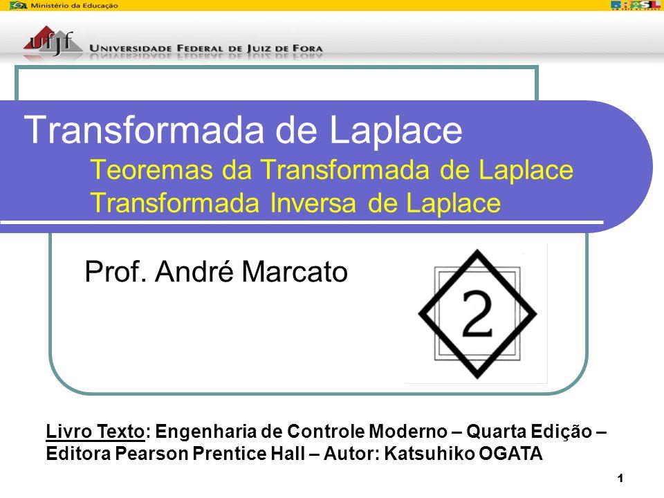 1 Transformada de Laplace Teoremas da Transformada de Laplace Transformada Inversa de Laplace Prof. André Marcato Livro Texto: Engenharia de Controle