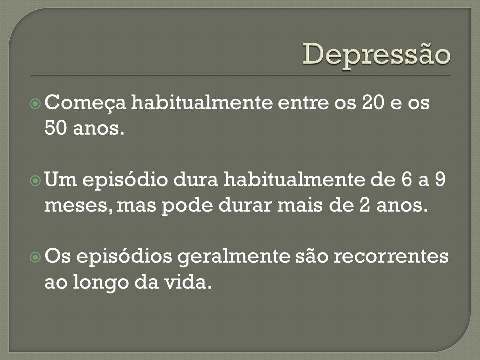 Fatores predisponentes: fatores hereditários, os efeitos secundários de alguns tratamentos, personalidade introvertida acontecimentos emocionalmente desagradáveis (perda) pode surgir ou piorar sem qualquer acontecimento significativo