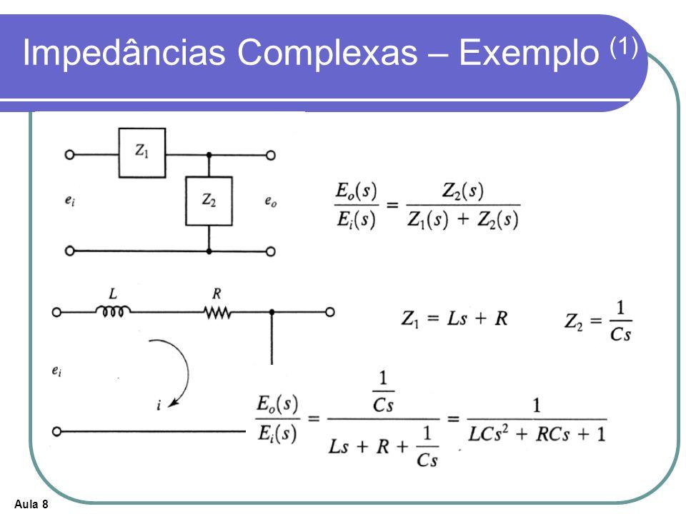 Aula 8 Impedâncias Complexas – Exemplo (1)