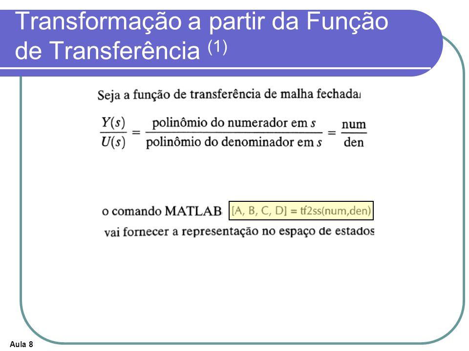 Aula 8 Transformação a partir da Função de Transferência (1)