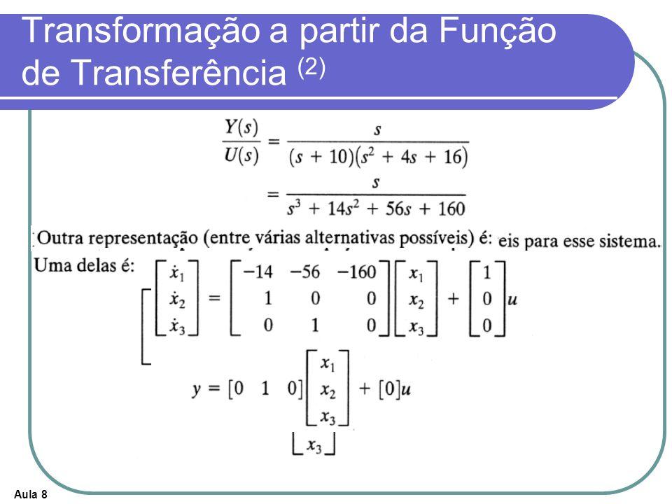 Aula 8 Transformação a partir da Função de Transferência (2)