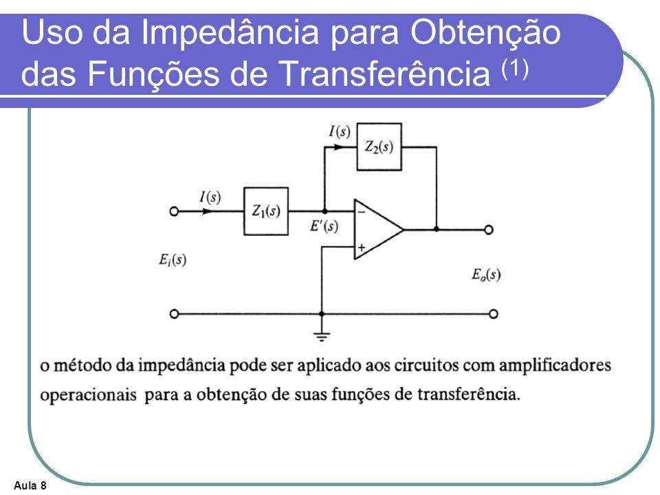 Aula 8 Uso da Impedância para Obtenção das Funções de Transferência (1)