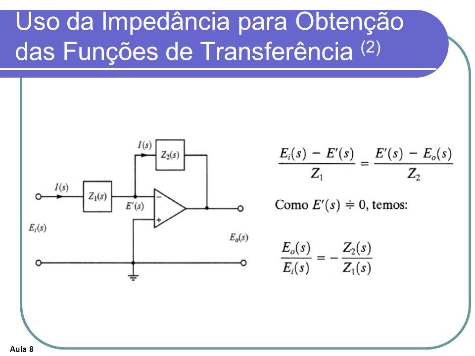 Aula 8 Uso da Impedância para Obtenção das Funções de Transferência (2)