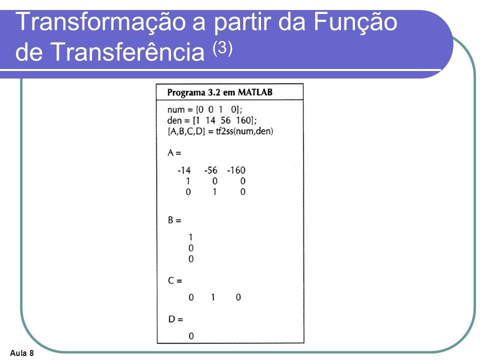 Aula 8 Transformação a partir da Função de Transferência (3)