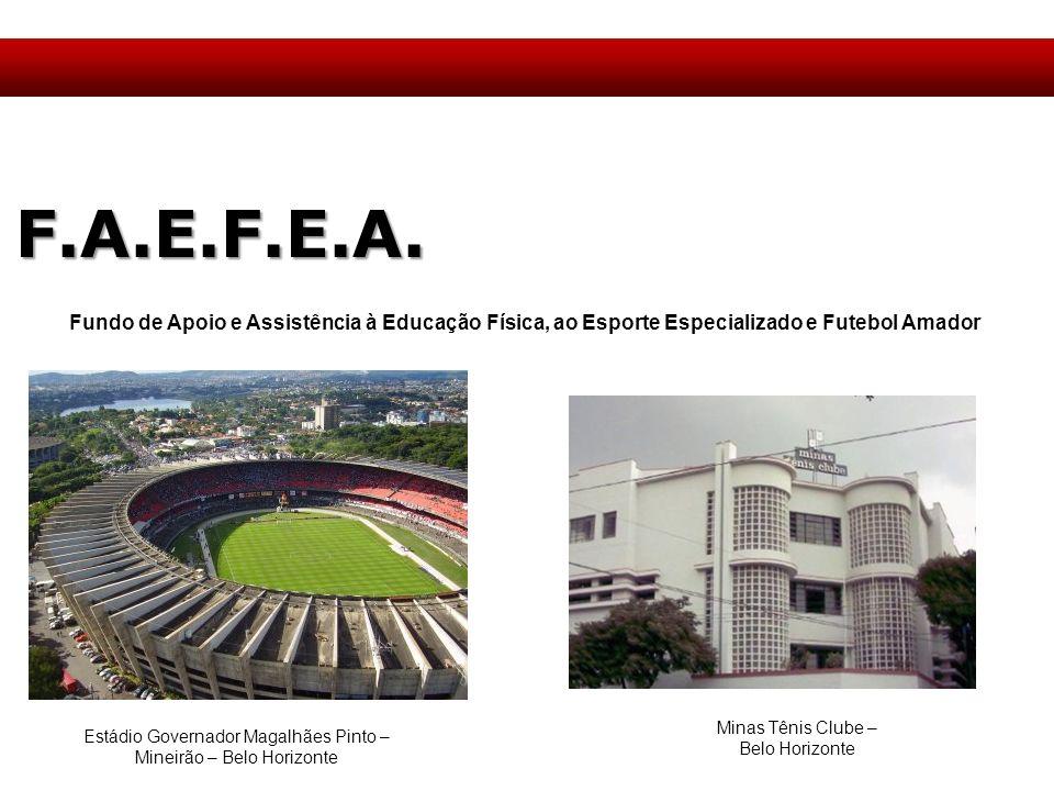 F.A.E.F.E.A. Fundo de Apoio e Assistência à Educação Física, ao Esporte Especializado e Futebol Amador Estádio Governador Magalhães Pinto – Mineirão –