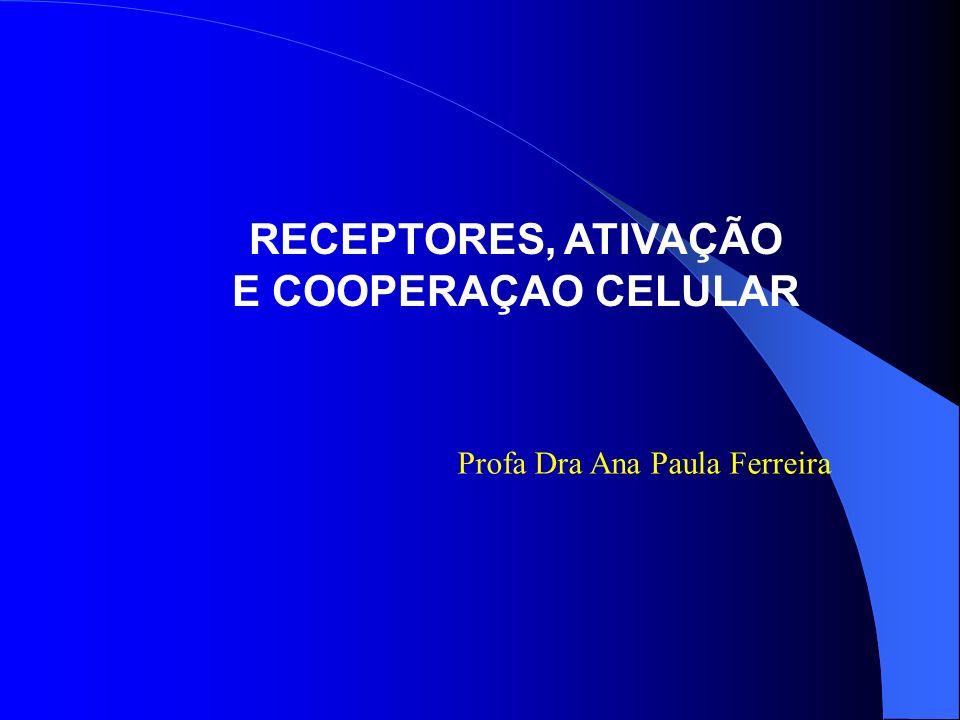 RECEPTORES, ATIVAÇÃO E COOPERAÇAO CELULAR Profa Dra Ana Paula Ferreira