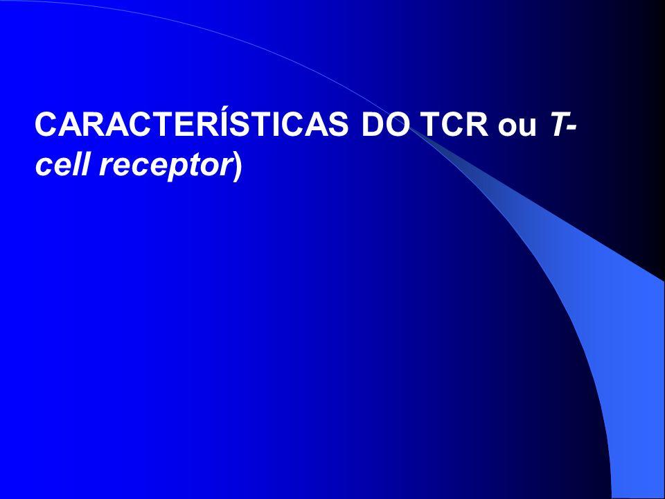 CARACTERÍSTICAS DO TCR ou T- cell receptor)