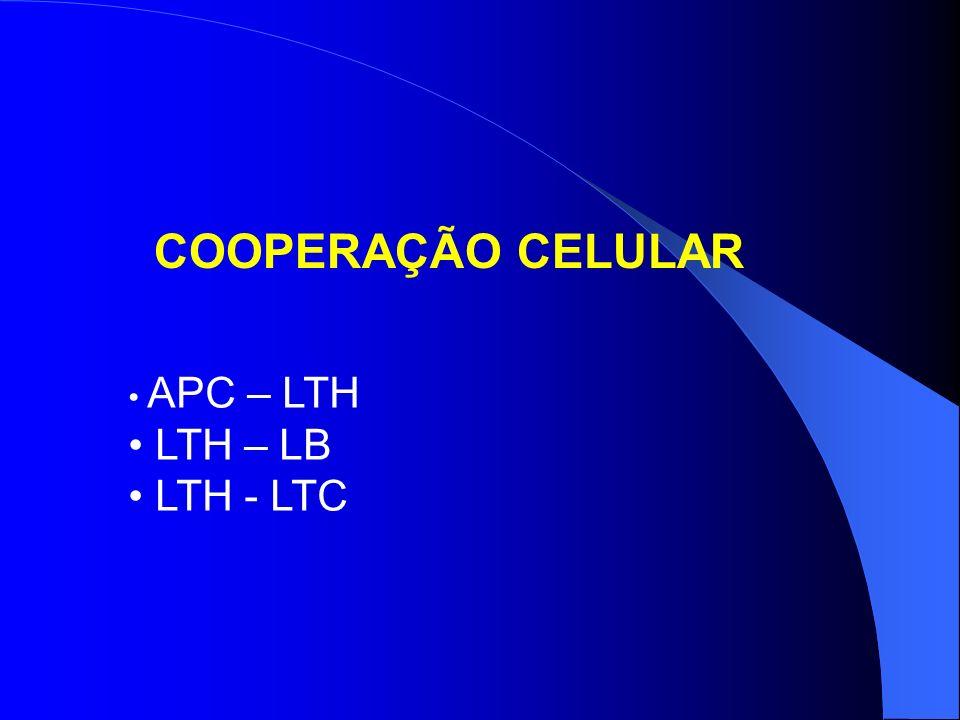 PRINCIPAIS MOLÉCULAS CO-ESTIMULATÓRIAS B7-1, B7-2 - CD28 B7-1, B7-2 - CTLA-4 CD40 - CD40L