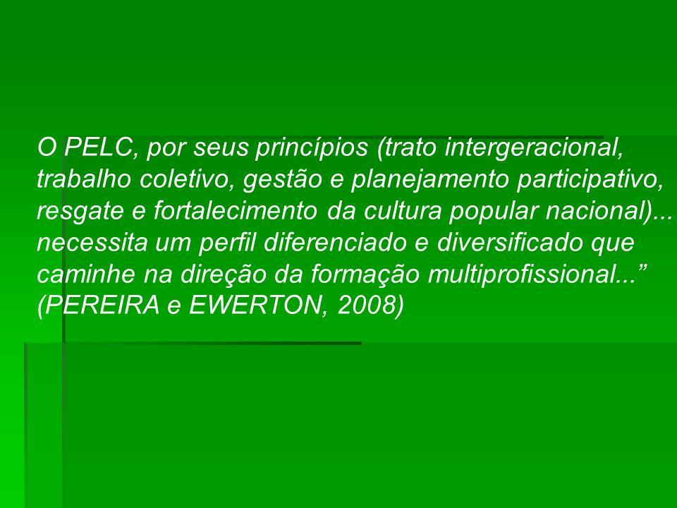 O PELC, por seus princípios (trato intergeracional, trabalho coletivo, gestão e planejamento participativo, resgate e fortalecimento da cultura popula