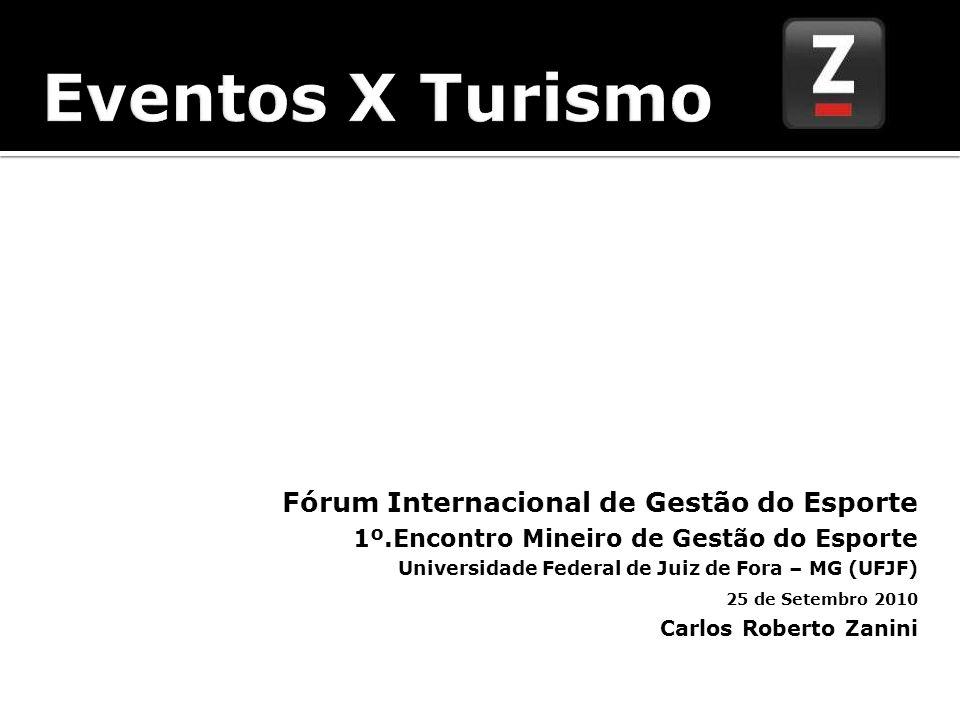 Eventos = Mix de Atividades e serviços relacionados a pratica da atividade turística.