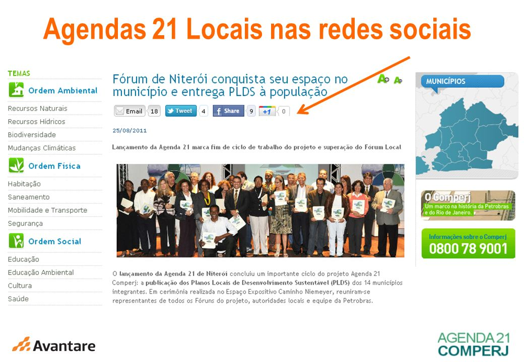 3 Agendas 21 Locais nas redes sociais