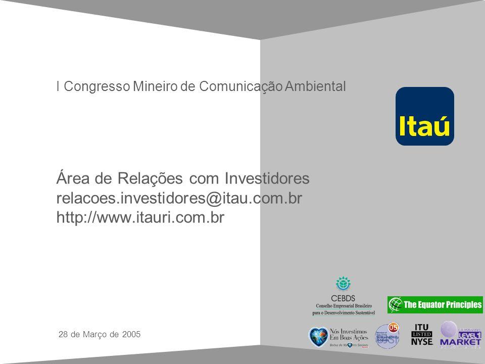 Guia de estilo para apresentações em Power Point Área de Relações com Investidores relacoes.investidores@itau.com.br http://www.itauri.com.br 28 de Ma