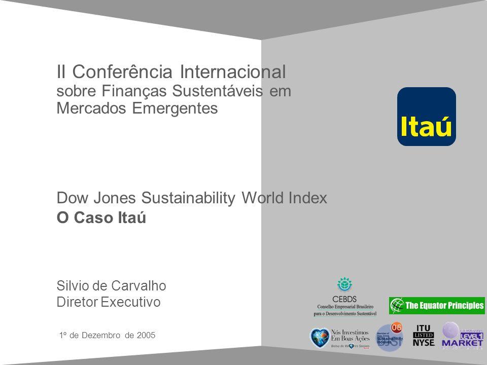 Guia de estilo para apresentações em Power Point 1º de Dezembro de 2005 Silvio de Carvalho Diretor Executivo Dow Jones Sustainability World Index O Ca