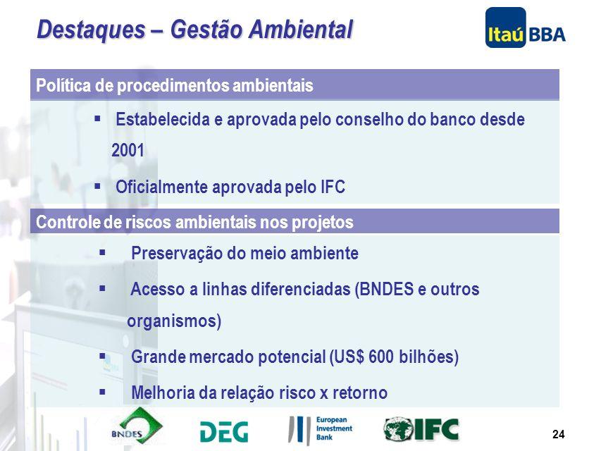 23 A alocação das Operações da Itaucorp foi feita em caráter preliminar com o objetivo de se demonstrar aproximadamente como virá a ser o Banco Itaú-B