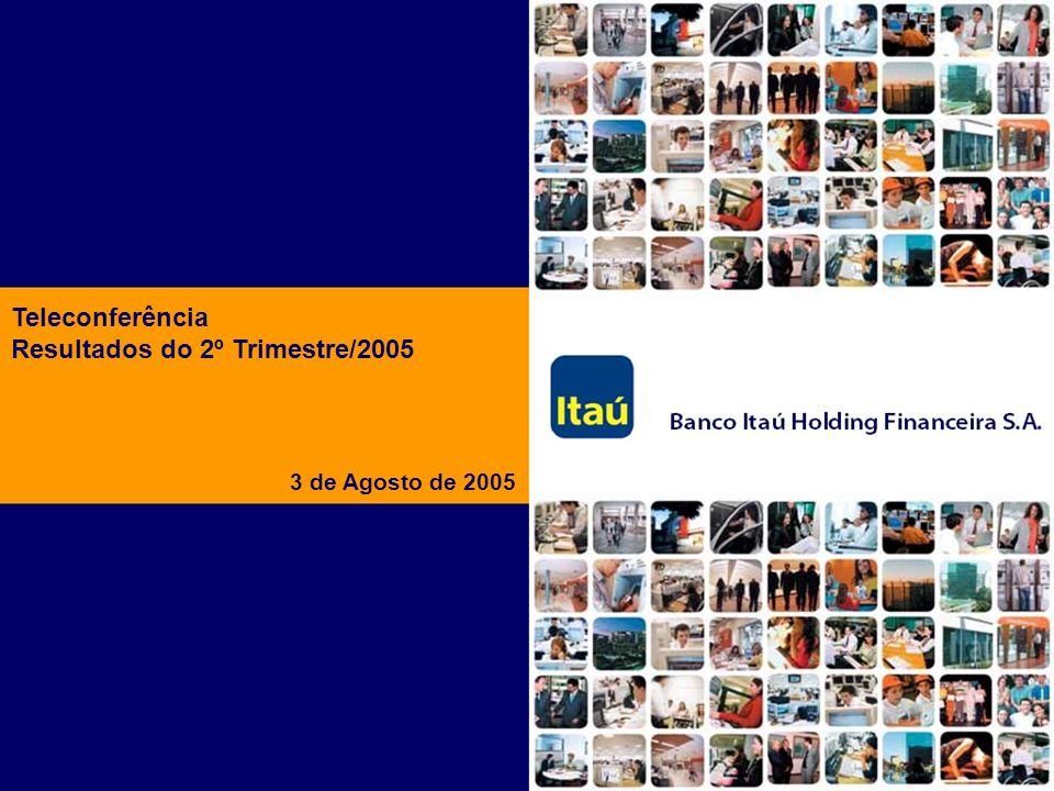 Banco Itaú Holding Financeira S.A. 22 Perspectivas para 2005 Expansão dos pontos de venda em 694, sendo 116 agências, 12 agências Personnalité, 121 Ta
