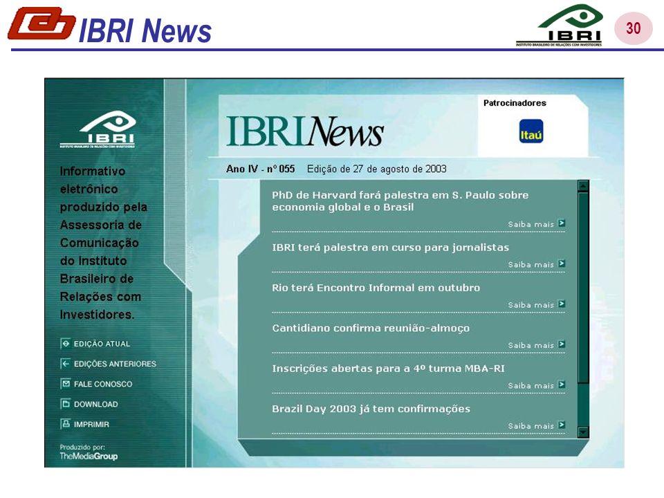31 IBRI – Releases