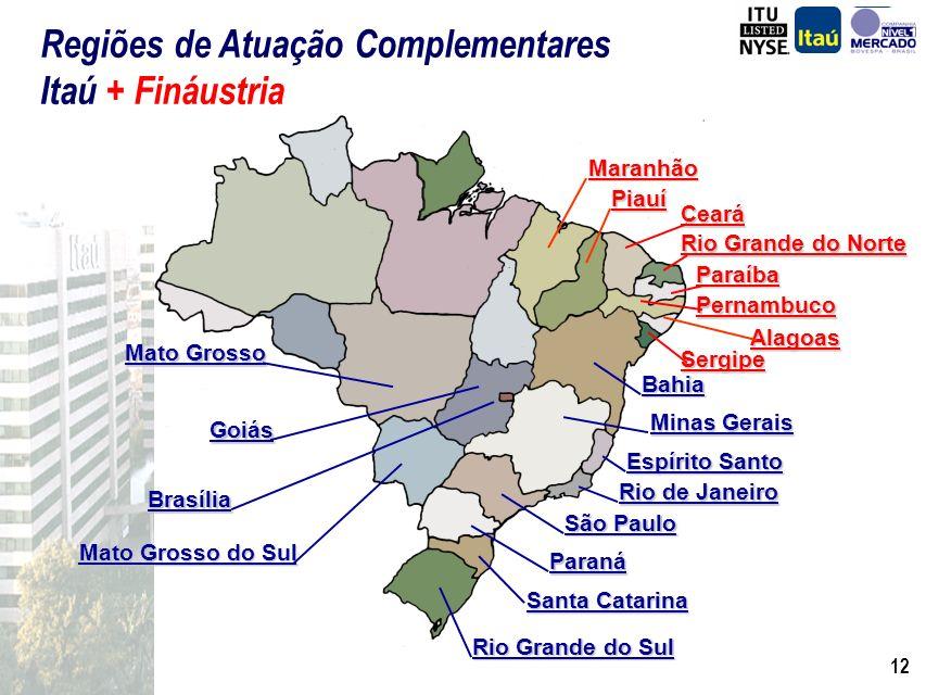 11 Bahia Minas Gerais Goiás Rio de Janeiro Espírito Santo Paraná Santa Catarina São Paulo Brasília Rio Grande do Sul Mato Grosso do Sul Mato Grosso Re