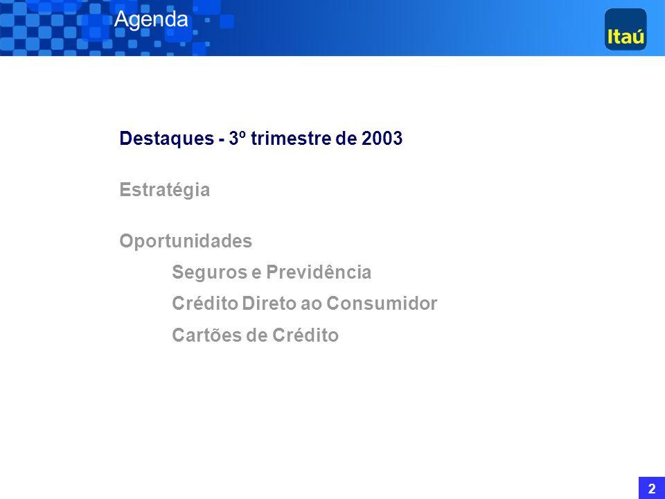 1 Banco Itaú Holding Financeira S.A. Maior Valor de Mercado do Sistema Bancário Brasileiro: R$ 29,7 Bilhões (05/12/03); Financial Holding Company, con
