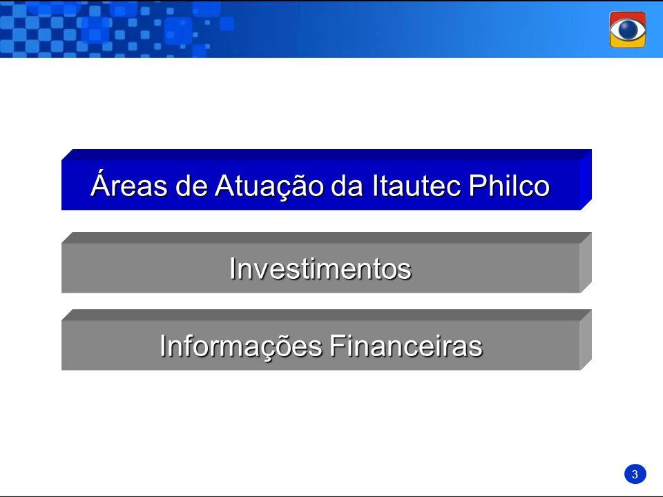 Informações Financeiras Investimentos Áreas de Atuação da Itautec Philco 3