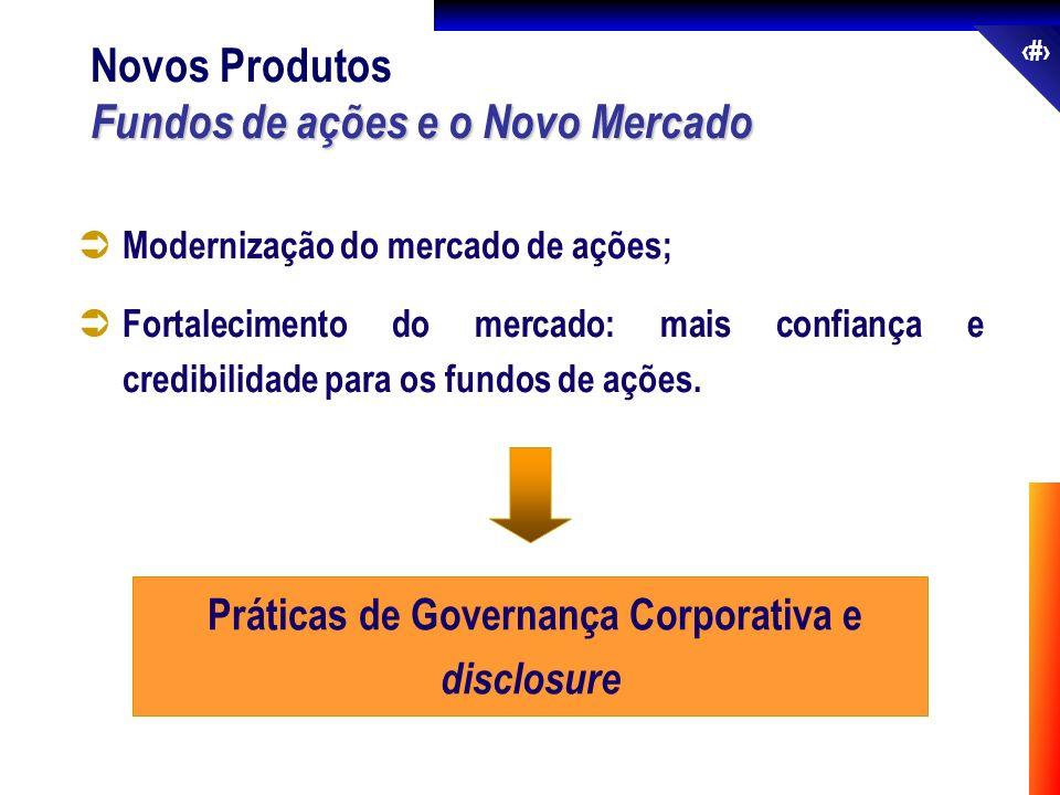 52 Modernização do mercado de ações; Fortalecimento do mercado: mais confiança e credibilidade para os fundos de ações. Práticas de Governança Corpora