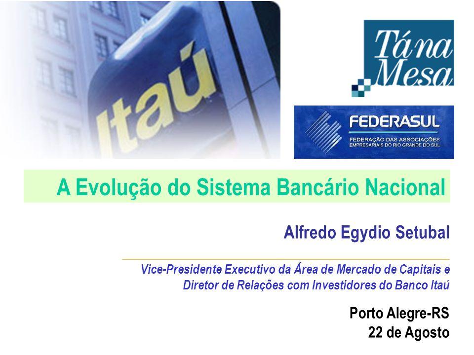 A Evolução do Sistema Bancário Nacional Porto Alegre-RS 22 de Agosto Alfredo Egydio Setubal _____________________________________________ Vice-Preside