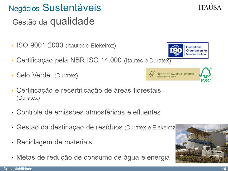 Sustentabilidade 15 Negócios Sustentáveis Crédito Análise socioambiental na concessão de crédito para a média empresa Riscos Política Corporativa de P