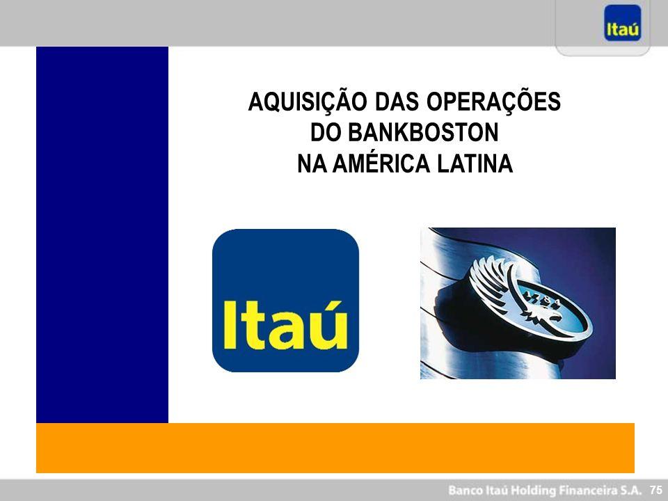 75 AQUISIÇÃO DAS OPERAÇÕES DO BANKBOSTON NA AMÉRICA LATINA