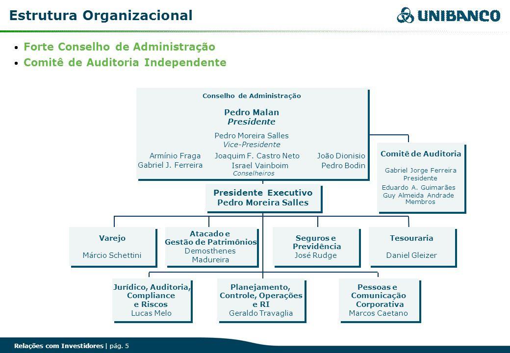 Relações com Investidores | pág. 5 Estrutura Organizacional Varejo Márcio Schettini Varejo Márcio Schettini Atacado e Gestão de Patrimônios Demosthene