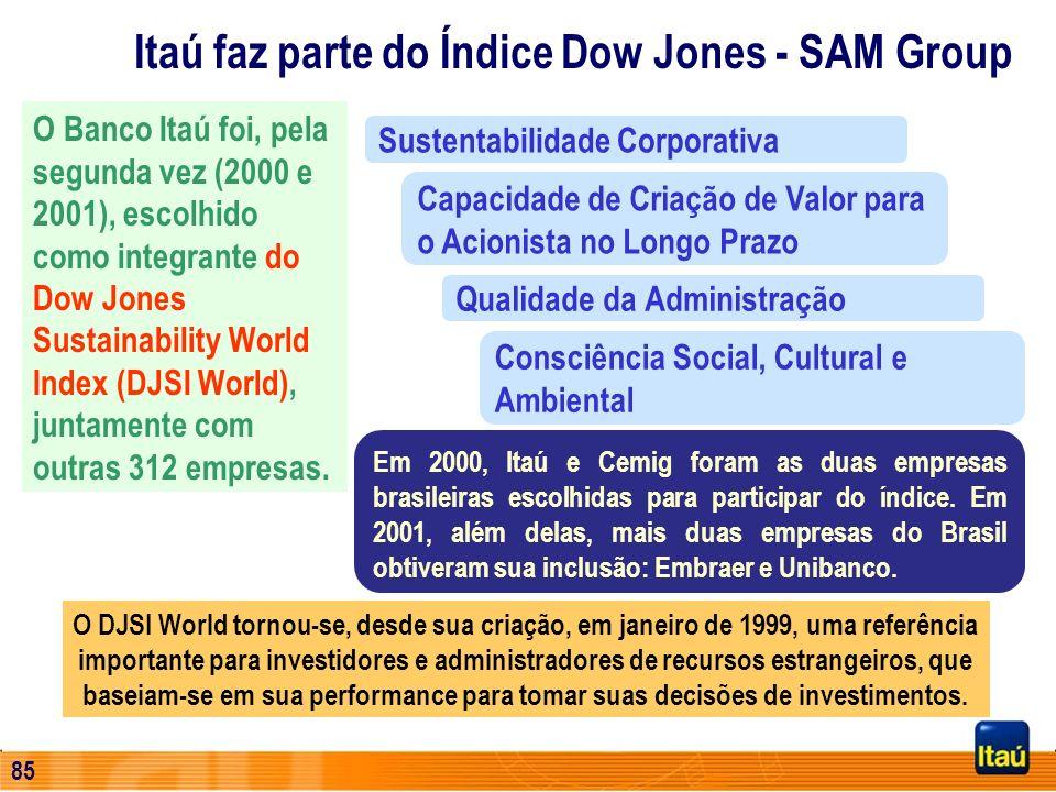 84 Foco: Refletir e divulgar a cultura brasileira Empresa Cidadã Público visitante (2000): 220 mil pessoas Fundação Itaú Social Atuação Direta em Apoi