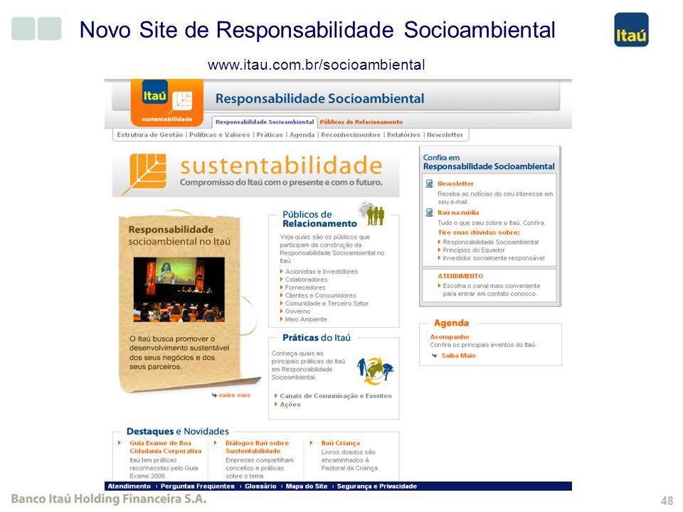47 Novo Site de RI Segmentado www.itauri.com.br
