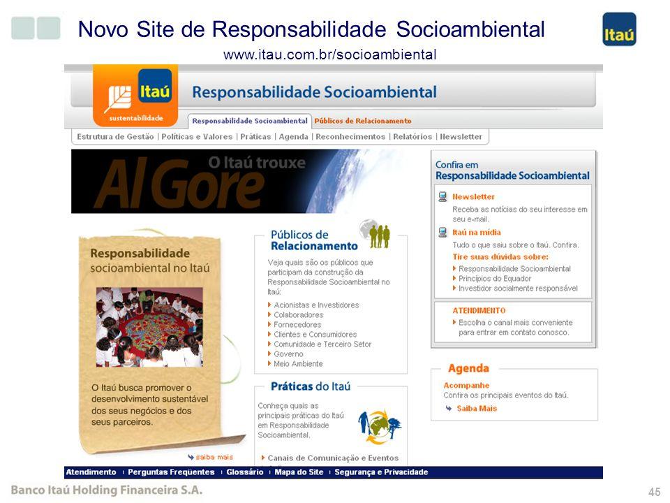 44 Novo Site de RI Segmentado www.itauri.com.br