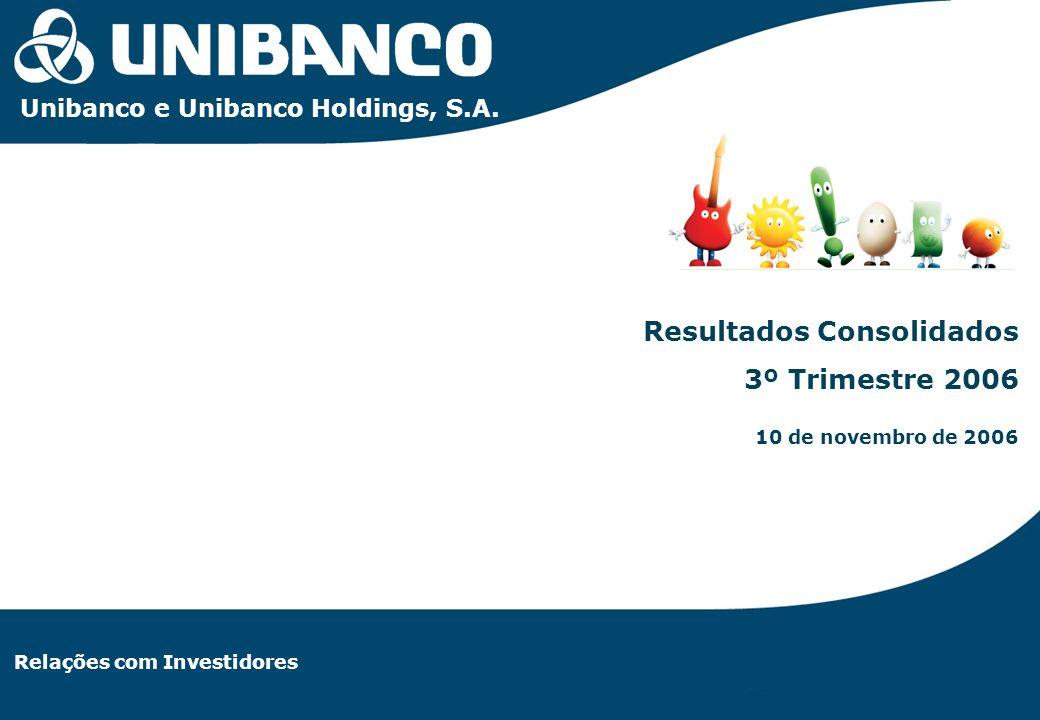 Relações com Investidores | 1 Relações com Investidores Resultados Consolidados 3º Trimestre 2006 10 de novembro de 2006 Unibanco e Unibanco Holdings,