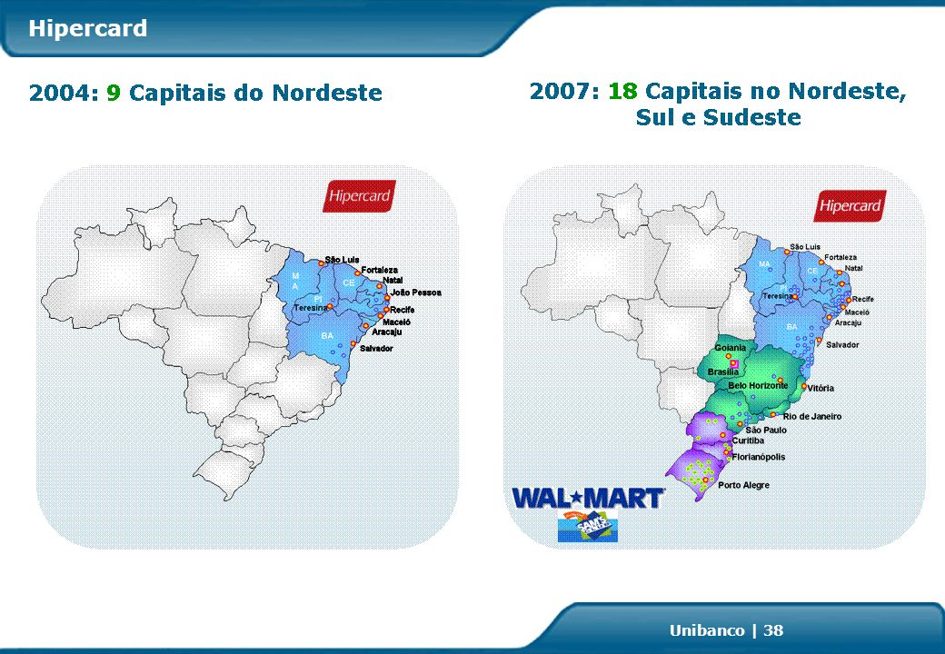 Investor Relations   page 38 Unibanco   38 Hipercard