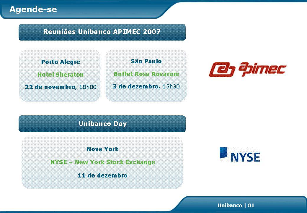 Investor Relations | page 81 Unibanco | 81 Agende-se