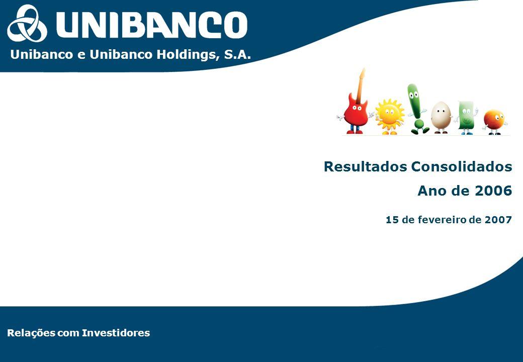 Relações com Investidores | 1 Relações com Investidores Resultados Consolidados Ano de 2006 15 de fevereiro de 2007 Unibanco e Unibanco Holdings, S.A.