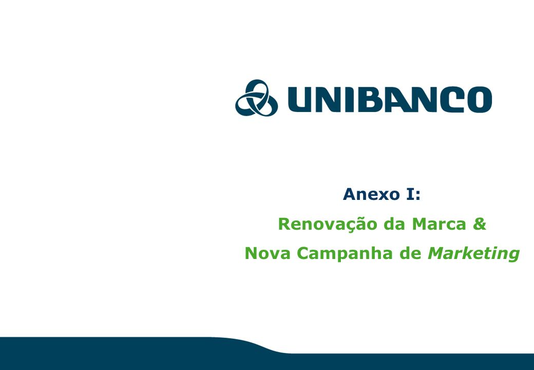 Relações Investidores 31 Anexo I: Renovação da Marca & Nova Campanha de Marketing