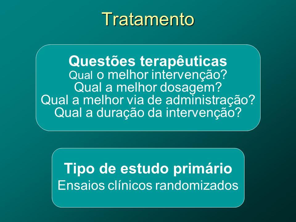 Questões terapêuticas Qual o melhor intervenção.Qual a melhor dosagem.